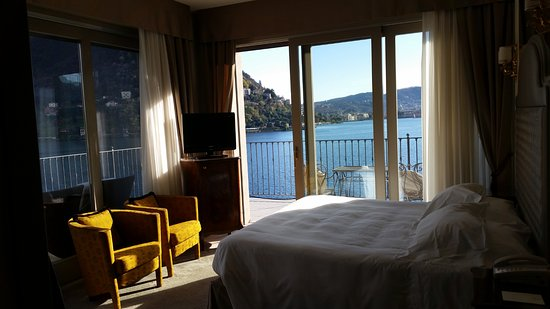 Hotel Villa Flori : provides view of Como city and northern lake