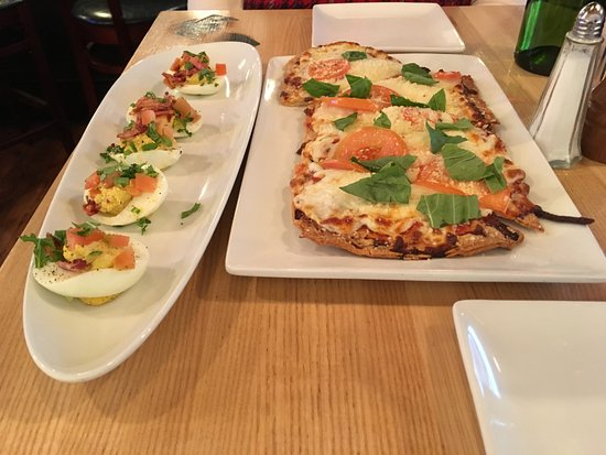 Clayton, MO: BLT Deviled Eggs and Margherita Flatbread
