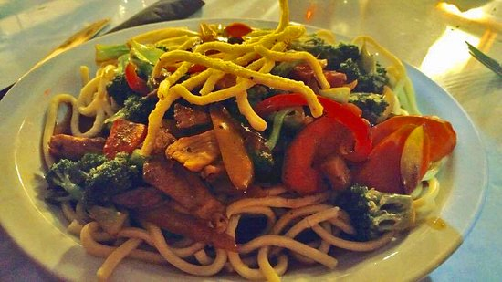 St. Marys, كندا: Our teriyaki stir fry served on a bed of Shanghai noodles