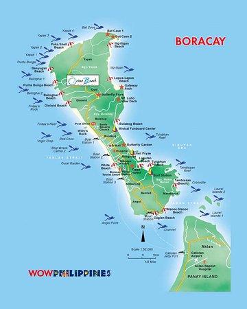 Map Picture of The Orient Beach Boracay Boracay TripAdvisor