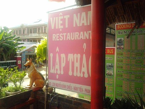 Lap Thao Restaurant : Eingangsbereich