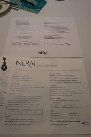 Nerai: 昼も夜も楽しんで、とメニューを手渡してくれました。
