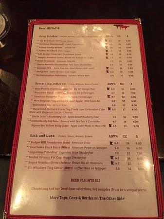 Beer menu - Изображение Red Cow North Loop, Миннеаполис
