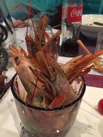 Le Bistro des Lices: Para começar o almoço: coquetel de camarões.