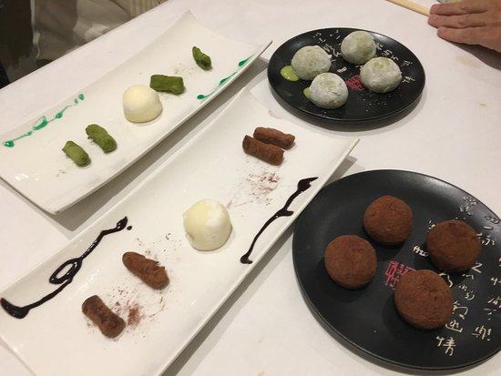 muchi fusion food muchis estupendos de chocolate de vainilla y de te verde