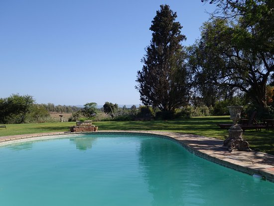 Addo, Güney Afrika: The pool and gardens