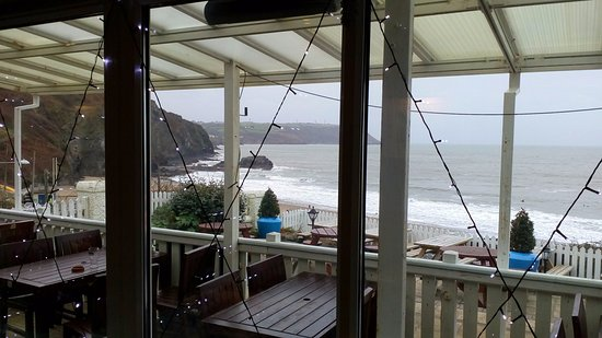Tresaith, UK: The view from our table