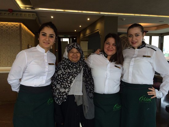 The lovely staff at the Sultania Restaurant with my mother in law