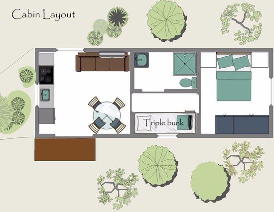 Zeehan, Australia: Cabin layout