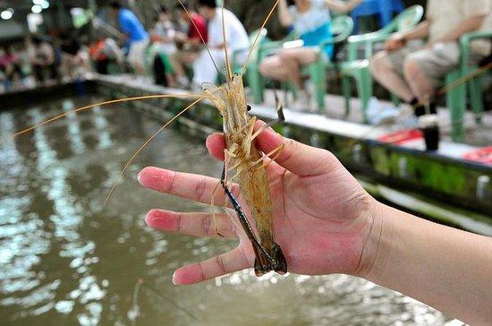 台北 プライベート フードツアー エビ釣り体験と士林夜市訪問