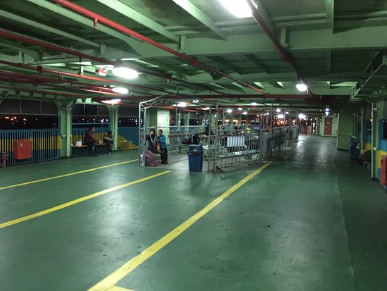 Penang Ferry Service: This whole level used to be filled with chairs for passenger.