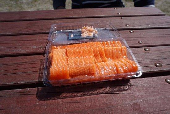 Twizel, นิวซีแลนด์: Salmon Sashimi