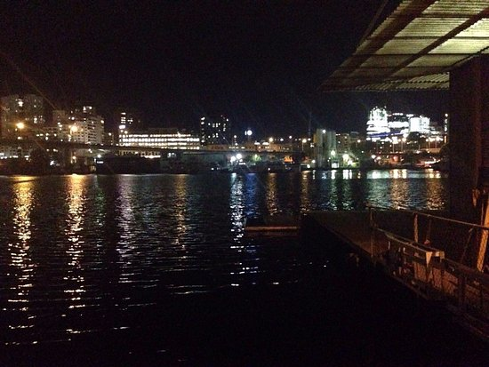 The Boathouse on Blackwattle Bay: View at night