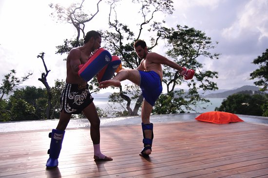 Sri Panwa Phuket Luxury Pool Villa Hotel: Thai boxing, activity at Sri Panwa Phuket