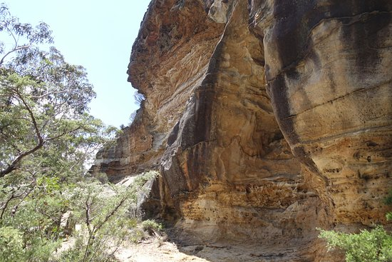 Blackheath, Avustralya: Wind eroded cave