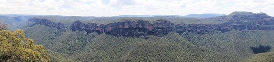 Blackheath, Australia: Panorama from Anvil Rock Lookout