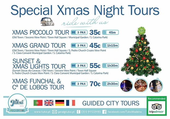 Tukxi Madeira: Christmas lights tours in Funchal