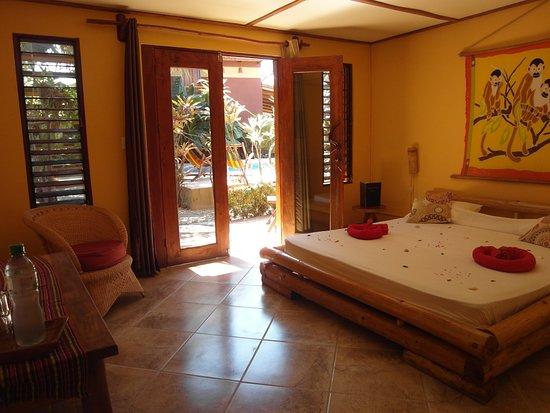 Samara Palm Lodge: Double room groundfloor with A/C & TV