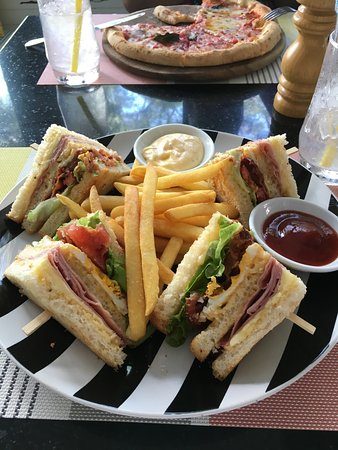 The Lapa Hua Hin Hotel: This is the best club sandwich I have ever eaten