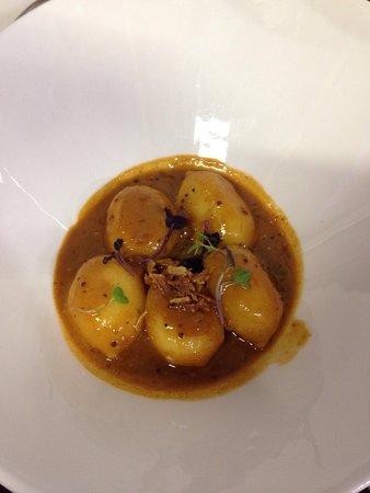 Puerto Real, España: Gnocchis de Gorgonzola en salsa de Strigonoff