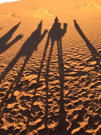Desert Tours Morocco: Long shadows in the Sahara!