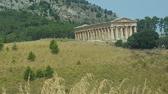 Calatafimi-Segesta, Italie : Panoramica sul tempio