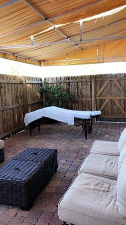 The Spa: Massage session in a beautiful cabana area 😊
