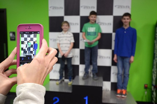 Bluegrass Karting & Events: Rookie Karts for ages 7+. Don't forget your podium picture after your race!