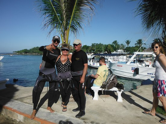 Bayahibe, República Dominicana: Marco, Helene and serge