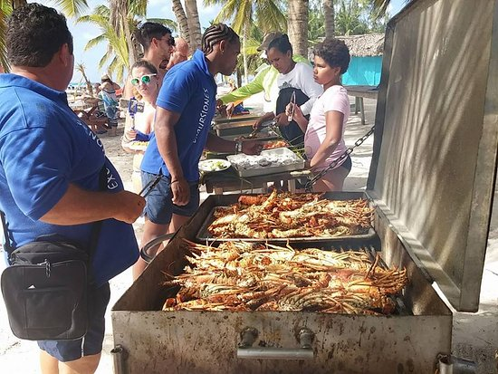Bayahíbe, República Dominicana: aragoste e aragoste :D