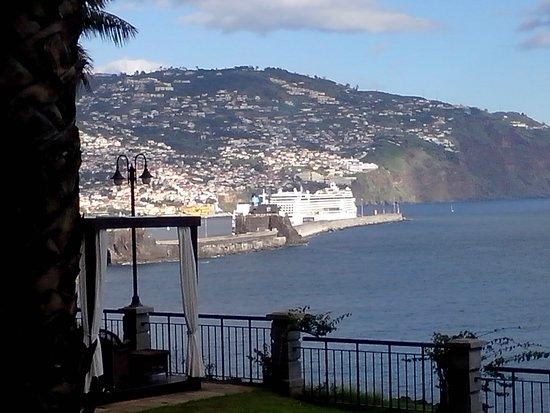 Hotel The Cliff Bay: Tolle Aussicht auf den Hafen von Funchal