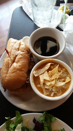 Richmond, TX: French Dip with au jus and tortilla soup. This was on the combo meal...