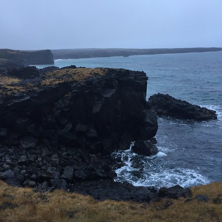 Londrangar Basalt Cliffs Photo