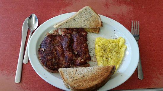 Monroe, WI: Corned Beef Hash ,egg,toast.