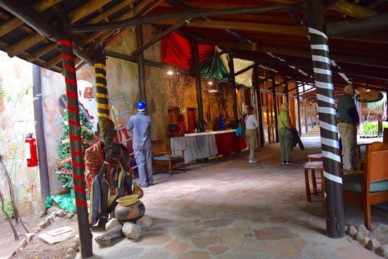 Mara Serena Safari Lodge: Decorated for Christmas!