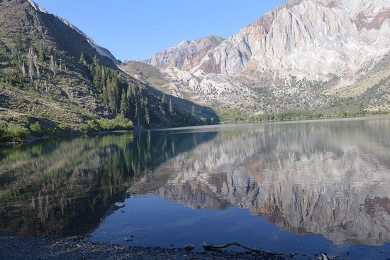 Convict Lake: View from West side - 9 AM