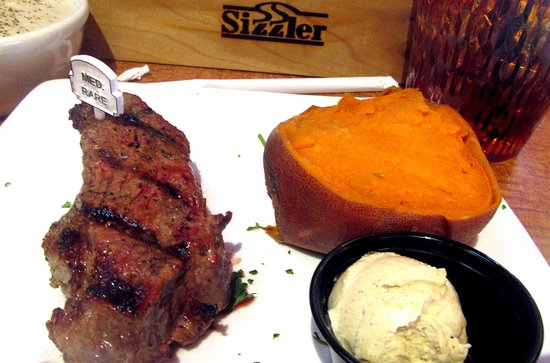 Sirloin Steak and Yam, Sizzler, Cameron Park, Ca