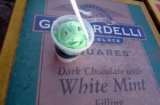 Mint Chocolate Chip Ice Cream, Ghiraradellli Ice Cream Shop and Factory Outlet, Lathrop, CA