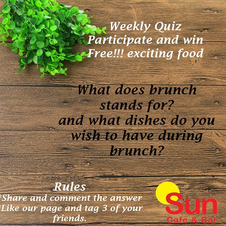sun cafe and bar weekly quiz brunch edition christmas