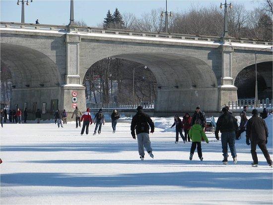 Ottawa, Canada: Rideau Canal in the wintertime -