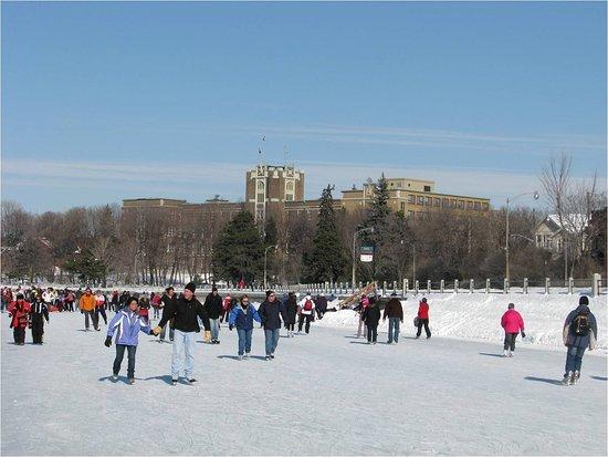Ottawa, Canada: Rideau Canal in the wintertime