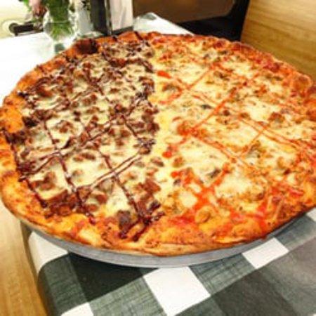 Cousins Pizza - Norwood - Half Buffalo Chicken Half Barbecue Chicken Pie