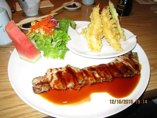 Stanton, Kalifornien: Teriyaki beef and tempura