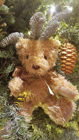 the peninsula tokyo xmas 2016 teddy bear ornament on christmas trees