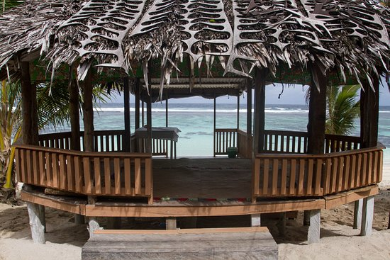 Saleapaga, Samoa: uno dei fale.