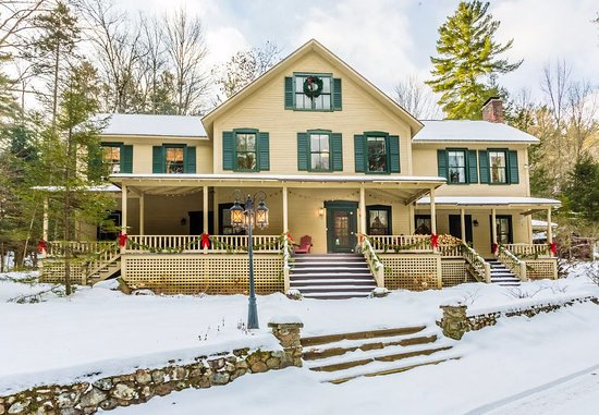 Keene Valley, NY: This grand old house wears winter white well!