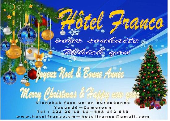 hotel franco nous vous souhaitons tous nos voeux les meilleurs en cette faate de fin