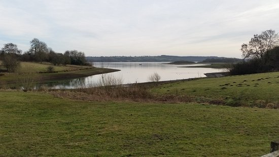 Ashbourne, UK: View across Carsington Water