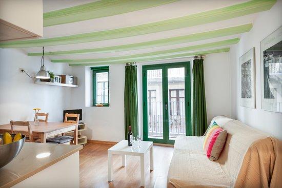 Inside Barcelona Apartments Vidreria: Vidreria / living room