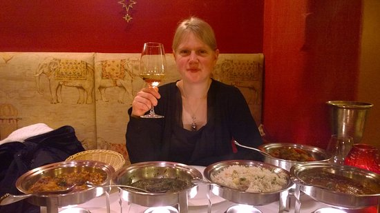 Indian Restaurant Maharani: At the dinnertable